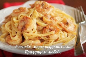 Паста феттучини с креветками - фото шаг 5