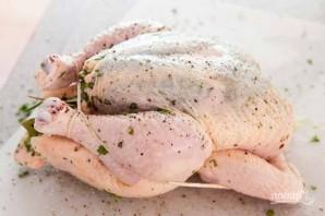 Курица по-домашнему (с травами) - фото шаг 3