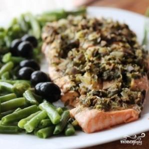 Филе лосося с оливками на пару - фото шаг 10
