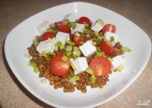 Салат с чечевицей и брынзой - фото шаг 3