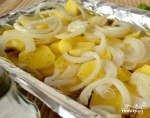 Запеченная картошка с шампиньонами и сыром - фото шаг 3