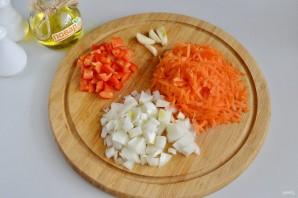 Рулеты из скумбрии с сыром и овощами - фото шаг 2