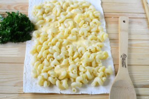 Макароны под сыром в лаваше - фото шаг 3