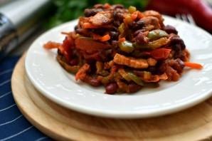 Свинина с овощами и красной фасолью - фото шаг 6