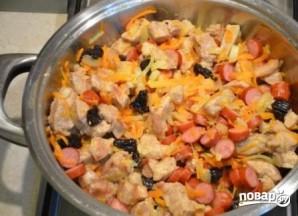 Бигус с мясом из свежей капусты - фото шаг 4