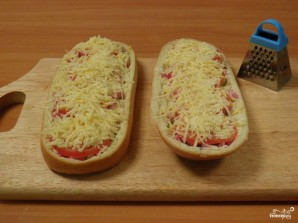 Домашняя пицца на батоне  - фото шаг 8