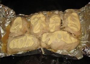 Рулет куриный с грибами и сыром - фото шаг 10