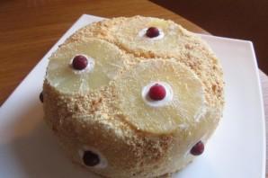 Торт без выпечки с ананасами - фото шаг 6