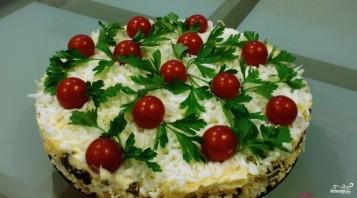 Куриный салат с грибами и сыром - фото шаг 6