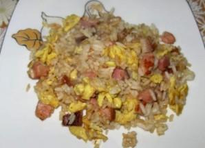 Яичница с рисом - фото шаг 5