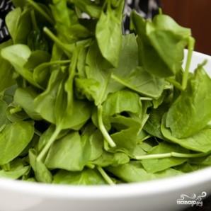 Салат со шпинатом и беконом - фото шаг 2