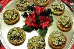 Волованы с салатом из кукурузы и грибов - фото шаг 23