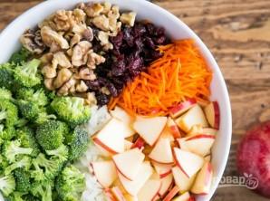 Салат с брокколи и яблоками - фото шаг 3
