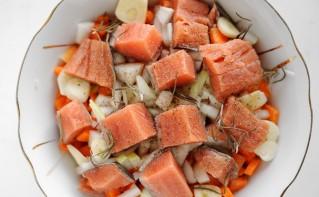 Рыба с овощами на пару - фото шаг 3