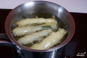 Кабачки в кляре с сыром - фото шаг 3