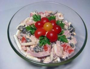 Салат с колбасой и грибами - фото шаг 4