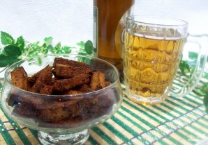 Гренки с чесноком к пиву - фото шаг 6