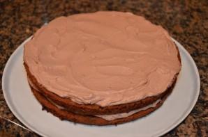 Шоколадный воздушный торт - фото шаг 10