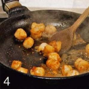 Жареные гребешки с рисом - фото шаг 4