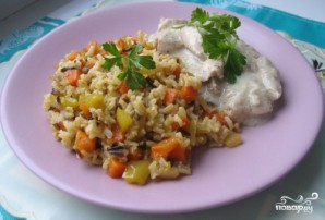Куриная грудка в чесночном соусе на сковороде - фото шаг 6