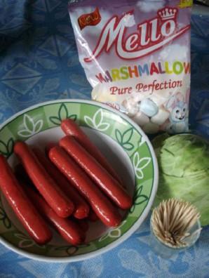 Зефир с сосисками - фото шаг 1