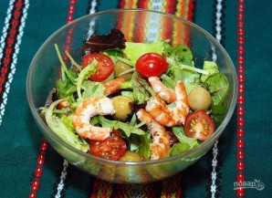 Легкий салат с креветками - фото шаг 4