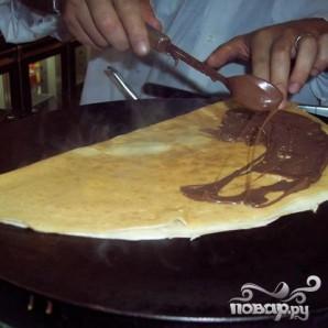 Блинчики с шоколадным ореховым кремом - фото шаг 5