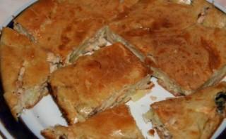 Быстрый пирог с рыбой - фото шаг 9