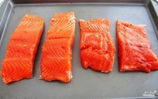 Запеченный лосось с чесноком и горчицей - фото шаг 3
