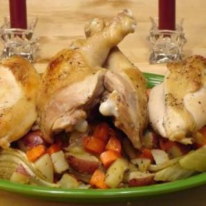 Куриное жаркое с овощами - фото шаг 5