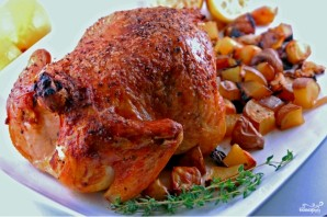Курица с персиками - фото шаг 8