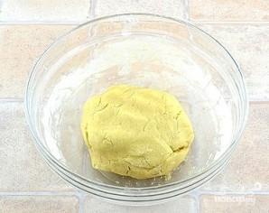 Творожный пирог с персиками - фото шаг 3