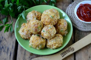 Картофельные шарики во фритюре - фото шаг 7