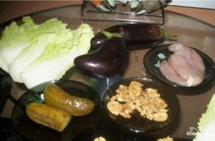 Баклажаны с куриной грудкой - фото шаг 1