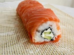 """Рецепт суши """"Филадельфия"""" дома - фото шаг 8"""