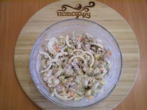 Салат с печенью куриной - фото шаг 8