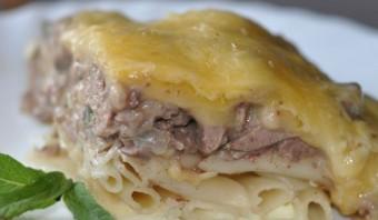 Макароны с ливерной колбасой - фото шаг 9