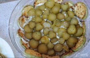 Овощной тортик-закуска с кабачками - фото шаг 4