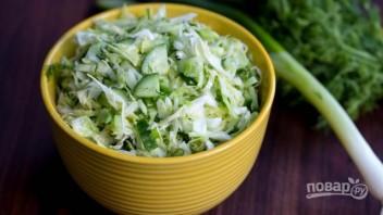 Салат из свежей капусты и огурца - фото шаг 4