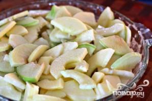 Яблочный десерт с овсяными хлопьями - фото шаг 2