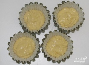 Сырные капкейки - фото шаг 5