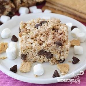 Пирожные с воздушным рисом и зефиром - фото шаг 7