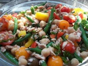 Салат с тунцом и фасолью - фото шаг 7