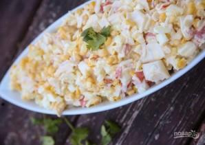 Салат с крабовыми палочками и яйцом - фото шаг 5