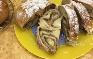 Праздничные кренделя с ореховой начинкой - фото шаг 7