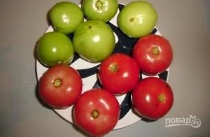 Малосольные помидоры по-армянски с чесноком - фото шаг 1