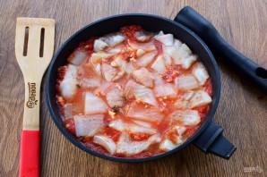 Треска в томатно-винном соусе - фото шаг 6
