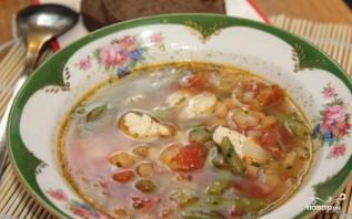 Суп фасолевый с курицей - фото шаг 6