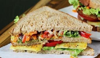 Бутерброды на шпажках - фото шаг 12