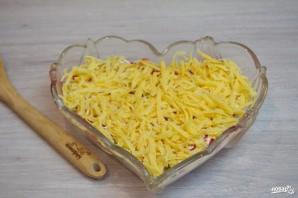 """Салат """"Петушок"""" с курицей и помидорами - фото шаг 4"""